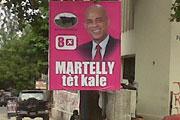 Um anúncio de Michel Martelly.