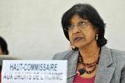 A Alta Comissária das Nações Unidas para os Direitos Humanos, Navi Pillay