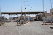 Posto de fronteira vazio, entre a Líbia e a Tunísia.