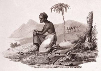 Mulher escravizada algemada, Antilhas, Centro Schomburg. Imagem: reprodução