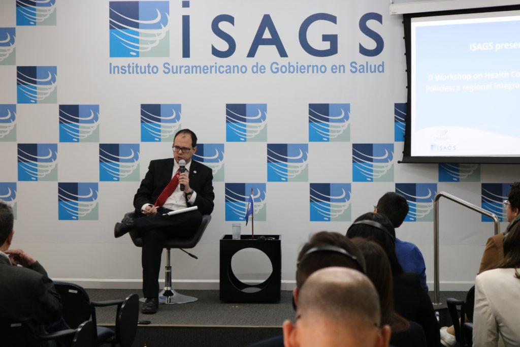 Maurizio Giuliano, diretor do UNIC Rio, em evento do Instituto de Saúde da UNASUL. Foto: ISAGS