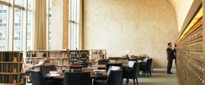 Uma das salas da Biblioteca Dag Hammarskjöld, na sede da ONU em Nova Iorque. Foto: ONU